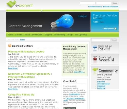 Exponent CMS