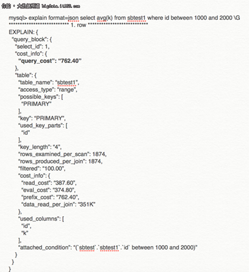 EXPLAIN命令提供输出有两种不同格式