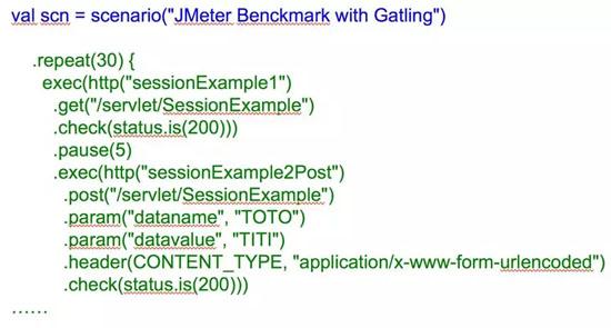 Gatling的DSL示例代码