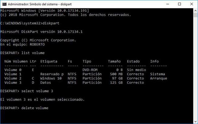 如何从Windows 10中的磁盘中删除分区