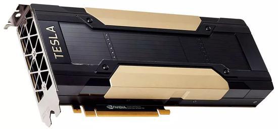 英伟达 TeslaV100 芯片图片来自网络,版权属于作者