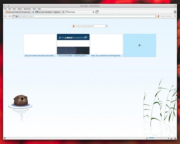 Otter浏览器快速拨号标签页
