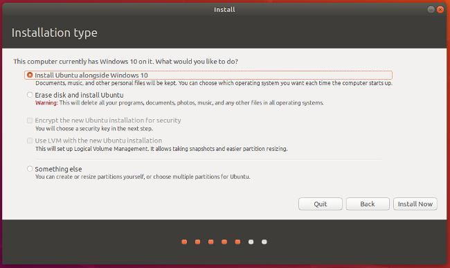 安装 Ubuntu,与 Windows 10共存