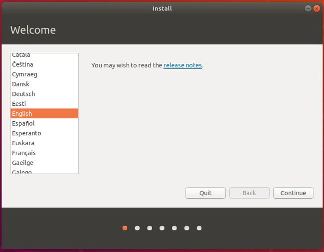 选择 Ubuntu 的语言