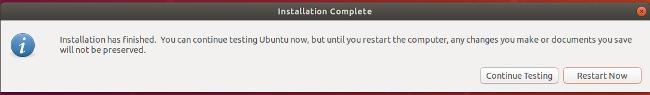 Ubuntu 安装完成